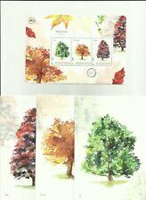 NEDERLAND 2019 Postset BOMEN - Trees - Eik - Kastanje - Beuk - incl. postkaarten