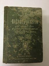LIBRO MOTORI A SCOPPIO AUTOMOBILE AUTOSCAFO AEROPLANO GARUFFA HOEPLI 1918