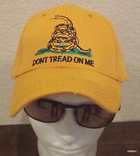 Embroidered Yellow Gadsden Baseball Cap Hat Don't Tread on Me Tea Party