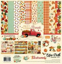 Echo Park FALL BREAK 12x12 Collection Kit by Steven Duncan Autumn Thankful TM