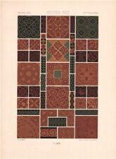 RACINET ORNEMENT POLYCHROME 46 Medieval decorative arts patterns motifs c1885