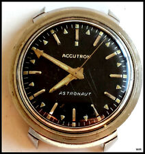 Vintage Authentic 1969 Bulova Accutron Astronaut Watch: No Band; Runs Well