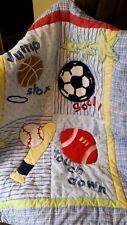 Just Born Baby Sports Crib Quilt / Comforter Football, Soccer, Baseball