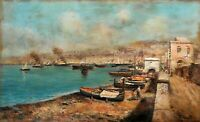 Oscar Ricciardi (1864/1935) Dipinto a olio su tavola mogano - Periziato