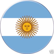 Badge DRAPEAU ARGENTINE Argentin Argentina pays country Ø38MM PIN BADGE BUTTON