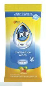 PLEDGE CLEAN IT MULTISURFACE WIPES CITRUS 25 CT