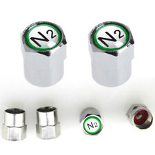4Pcs Chrome Car Auto TPMS Valve Stem Caps N2 Nitrogen Tire Insert Cover