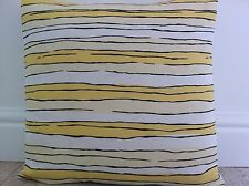 """New Yellow & Black Lines Striped Fabric Scatter cushion Cover 16"""""""