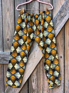 African Print Lightweight cotton drawstring pants Summer