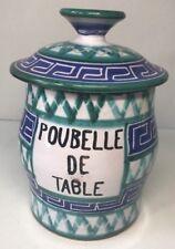 Poubelle De Table Signée R.P. Robert Picault Vallauris Vintage H 15 L 16 l 10 Cm