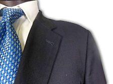 $845 Joseph Abboud Black Birdseye w/stripe Suit size 45 A113