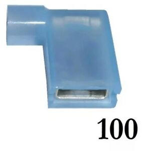 100 x BLUE 6.3mm Fully Insulated FLAG Terminals