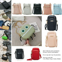 Small Women Leather Crossbody Bags Phone Cards Comestic Purse Lady Shoulder Bags