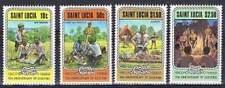 St. Lucia postfris 1982 MNH 582-585 - Scouting (P310)