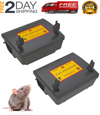 2 Pack Rat Bait Stations Rodent Trap, Reusable Mouse Traps Outdoors New