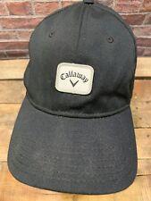 CALLAWAY Golf Black White Flex Fitted Adult Cap Hat