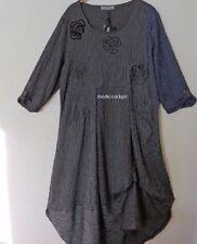 Gestreifte 3/4 Arm Damenkleider in Übergröße