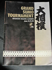 Grand Sumo Tournament Madison Square Garden 1984 Signed Mitsugu Chiyonofugi +2