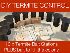 Termite Monitoring Bait Stations - 10 x Stations PLUS bait - COLONY KILLER