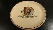 RARE VINTAGE LOUIS F NEUWEILER'S SON'S MEAT AND CHEESE PLATE ALLENTOWN PA