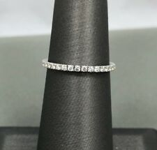 Tiffany & Co. Metro Diamond 18k White Gold Eternity Ring Size 5