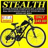 NEW DIY 2-STROKE 66cc/80cc MOTORIZED BICYCLE KIT WITH MOUNTAIN BIKE