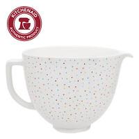 KitchenAid 5 Quart Confetti Sprinkle Ceramic Bowl, KSM2CB5PCS