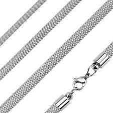 Mesh Chain Necklace 22 inch Stainless Steel 4mm thickness