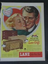 Original Print Ad 1948 LANE Cedar Hope Chest Love-Gift Romantic Vintage Art