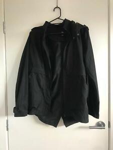 Rusty Waterproof Black Jacket With Hood Size 12