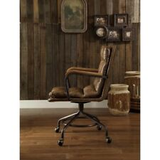 Hedia Vintage Whiskey Top Grain Leather Office Chair