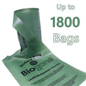 Biodegradable Dog Waste Bag Pet Poop | 180, 360, 720 or 1800 Biogone Poo Bags