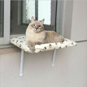 Cat Basking Window Hammock Perch Cushion Bed Hanging Shelf Seat Mounted Bed