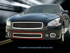 Fits 2009-2014 Nissan Maxima Stainless Steel Black Wire Bumper Mesh Grille Fedar