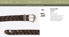 "Fabio Giovanni Casone Soft Italian Calf Leather Woven Belt RRP £75 BNIB 34"" 36"""