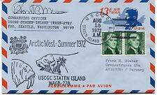 USCGC Staten Island Arctic West Summer 1972 Aerogramme Polar Arctic Cover SIGNED