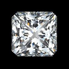 Lovely 9 X 7 MM 2.43 CT Full White Radiant Shape Cut Loose Moissanite 4 Ring