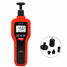 Hot Handheld Non Contact Amp Contact Digital Tachometer Tach Rotate Speed Meter Us