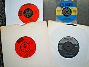 """THE RIGHTEOUS BROTHERS 4 X VINYL 7"""" SINGLE BUNDLE UNCHAINED MELODY ETC ALL EX"""