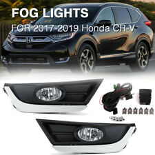 For 2017-2019 Honda CR-V Clear Bumper Lamps Driving Fog Lights+Switch+Bezels US
