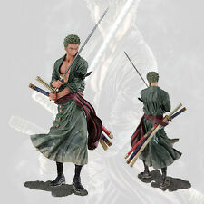 Japanese Anime One Piece Roronoa Zoro PVC Figurine Statue 21cm No Box Battle Ver