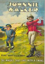 ROBERT  OPIE  ADVERTISING  POSTCARD  -  JOHNNIE  WALKER  WHISKY  /  GOLF  CARD