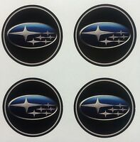 4x 45 mm fits SUBARU wheel STICKERS center badge centre trim cap hub alloy