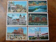 Lot73g 6x ATLANTIC CITY Boardwalk BEACH Captain Young New Jersey USA Postcards