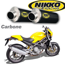 Echappement Paire de Silencieux Carbone Racing Ducati Monster 94-01 Slip-On