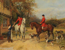 Vintage Art Painting/Poster/Dogs/Fox Hunt /Heywood Hardy/1800's/English 16x20in.