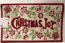 FRANCESCA COLLECTION CHRISTMAS JOY HOLIDAY AREA RUG(s) 20x32 RED/GREEN/BEIGE