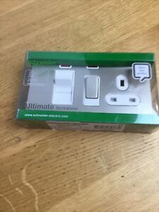Schneider Ultimate Pearl Nickel Electric Cooker Control Unit 13A Socket 45A DP