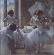 """Dancers by Edgar Degas, 12""""x12"""", Giclee Canvas Print"""