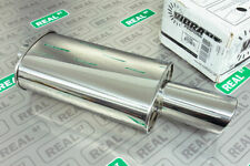 """Vibrant 1047 STREETPOWER Oval Muffler w// Dual 3.5/"""" Round Tips 3/"""" inlet"""